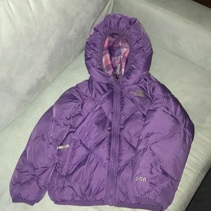 North face puffer reversible winter coat